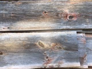 Grey Red Wood Siding